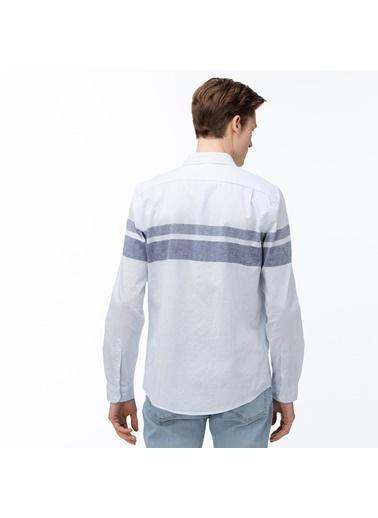 Lacoste Erkek Slim Fit Gömlek CH0060.60M Mavi